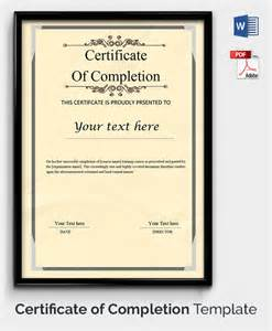 free template certificate of completion 30 free printable certificate templates to