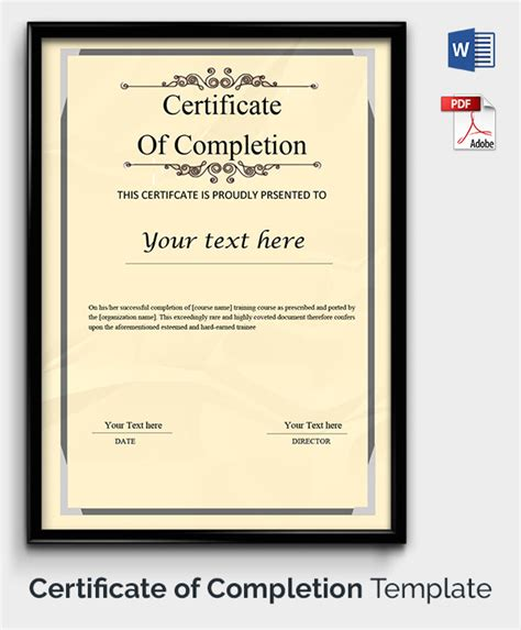 Printable Certificate Template by Certificate Template 50 Free Printable Word Excel Pdf