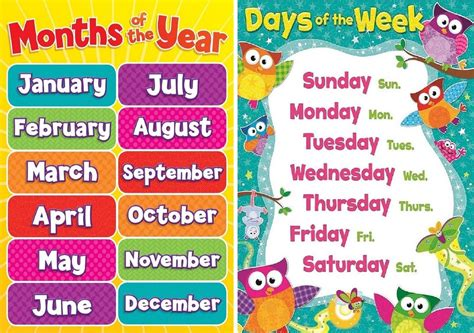 Months Of The Year Template Cards by A4 Childrens Todlers Months Of The Year And Days Of