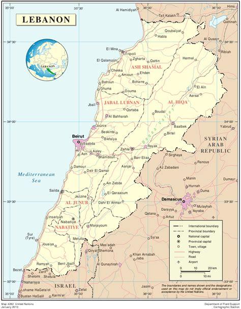 middle east map lebanon map of lebanon political map worldofmaps net