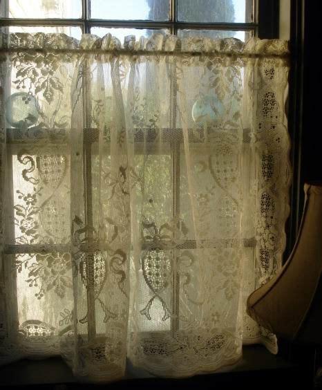 vintage cafe curtains vintage cream cotton lace cafe curtain