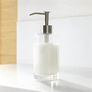 Kitchen Outlet Height by Glass Soap Dispenser Crate And Barrel