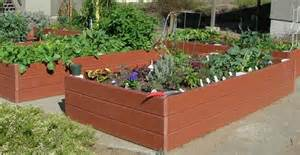plastic raised garden beds recycled plastic raised garden bed 4 x 8 x 16 5