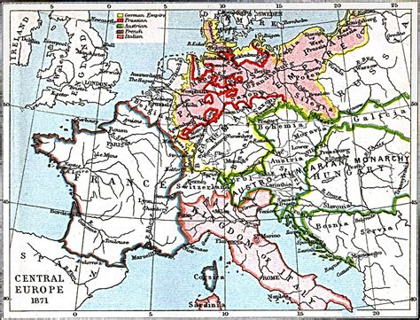 map of central europe central europe map 1871 a d size