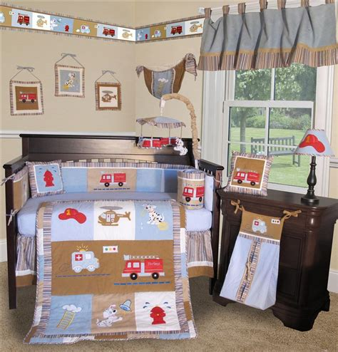 truck crib bedding baby boutique fire truck 14 pcs crib bedding set incl