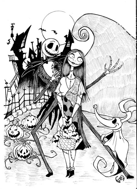 nightmare before christmas jack coloring pages jack and sally by jaoramos on deviantart
