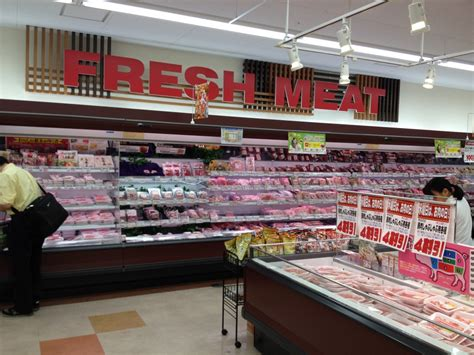 supermarket sections fresh meat section tokyo urban baby