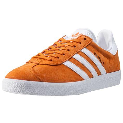 adidas gazelle womens trainers in orange white