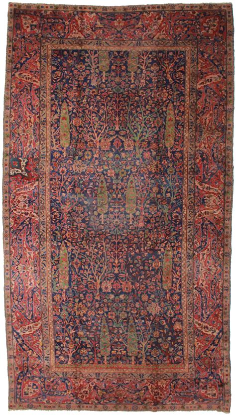 Antique Indian 9x17 Wool Oriental Rug 3692 Antique Rugs