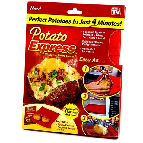 Potato Free Tv by Potato Express Microwave Potato Cooker As Seen On Tv Cooks