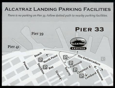 san francisco map pier 33 directions alcatraz island u s national park service