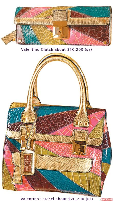 Exclusive The Colorful Valentino Crocodile Handbags exclusive the colorful valentino crocodile handbags