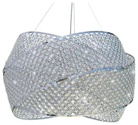30 quot crystal drum suspension chandelier pendant light