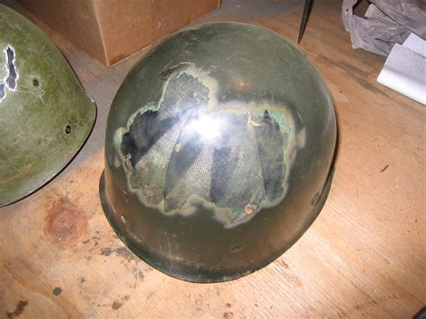 90th IDPG Rewebbing the M1 Helmet Liner: Paint Removal
