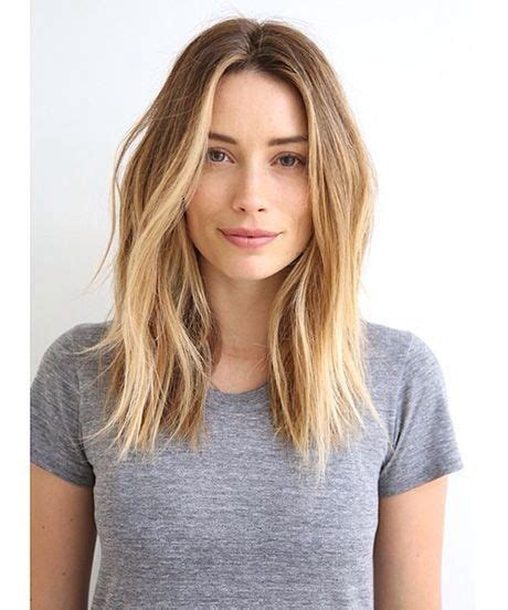 medium length haircuts without layers 25 best ideas about no layers haircut on pinterest fine