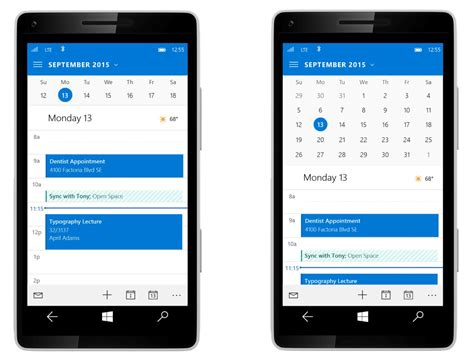 mobile mail outlook mail for windows 10 mobile updated for better one