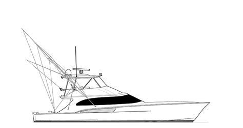 yellowfin boat drawing custom sportfish yachts and service from jarrett bay boatworks