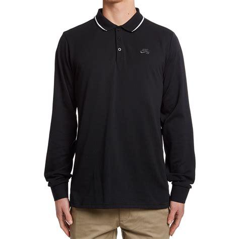 Nike Legsleeve Polos nike sb pique sleeve polo shirt black anthracite