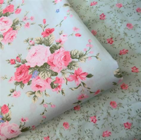 printable cotton fabric sheets aliexpress com buy hot sale roses flowers 100 cotton