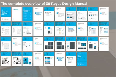 hand book layout design brand manual brochure templates on creative market