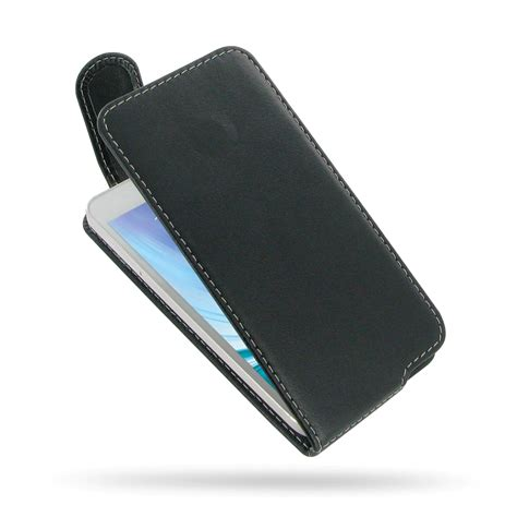 Leather Samsung Galaxy A3 samsung galaxy a3 leather flip top carry pdair sleeve pouch