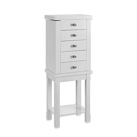 linon jewelry armoire buy linon home julia jewelry armoire in white from bed bath beyond
