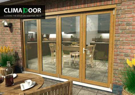 Solid Oak Patio Doors Solid Oak Climadoor Supreme Bifolding Sliding Doors Bifold Patio Doors Vibrant Doors