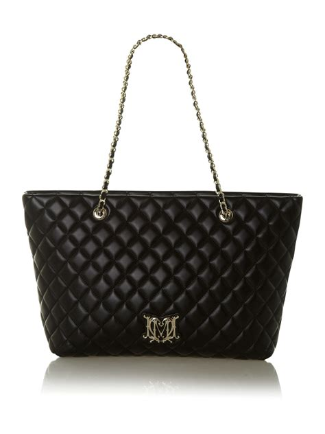 Moschino Bag moschino quilted mini shoulder bag in black lyst