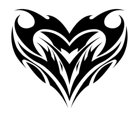 heart with tribal tattoos tribal designs cool tattoos bonbaden