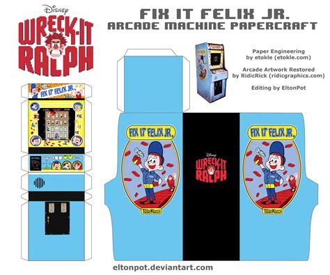 Arcade Papercraft - fix it felix jr arcade papercraft by eltonpot on deviantart