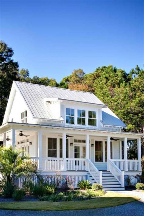 tin roof house plans white house metal roof exteriors pinterest