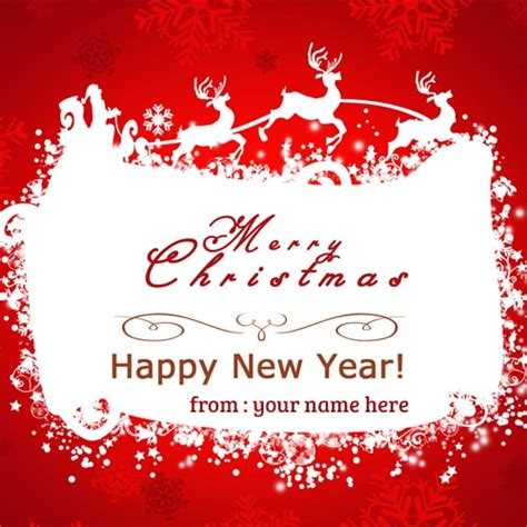 write   merry christmas happy  year wishes cards