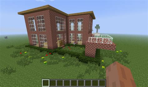 minecraft simple house simple brick house minecraft project