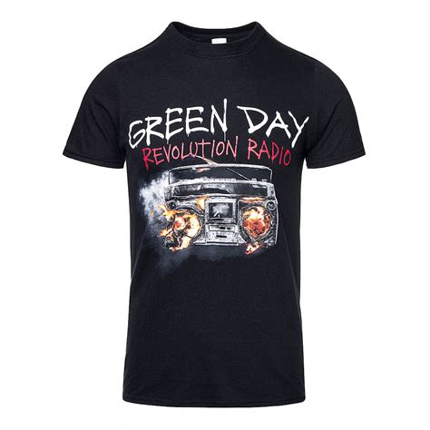 T Shirts Green Day Gdy08 green day revolution radio black t shirt official band t