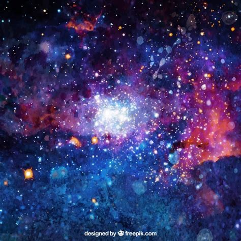 galaxy vector wallpaper bright watercolor background of galaxy vector free download