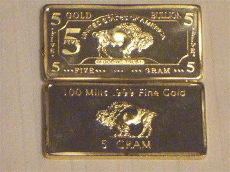 1 Troy Oz 100 Mills 999 Silver Maple Leaf Bar - 5 gram 24k gold 100 mills buffalo bar bullion
