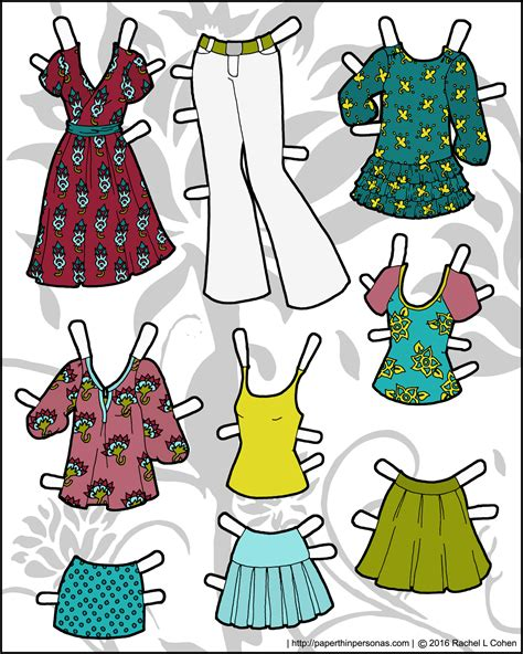 ms mannequin in the summer paper doll clothing paper