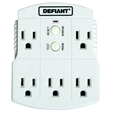 4 outlet gfci defiant gfci 5 outlet adapter 30339037 the home depot