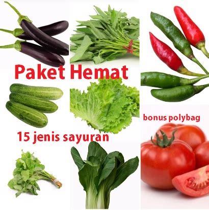 Paket Tanaman Hemat jual paket hemat 15 jenis benih sayuran bonus polybag