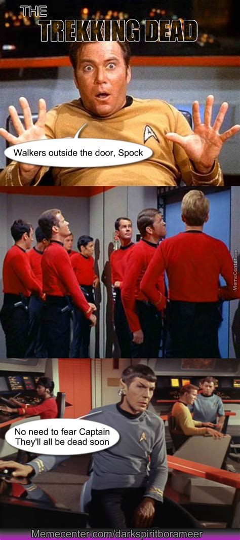Star Trek Red Shirt Meme - red shirts the walking dead of star trek by