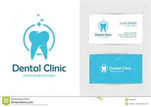 dental clinic business card design dental clinic logo with tooth stock vector image 69290967