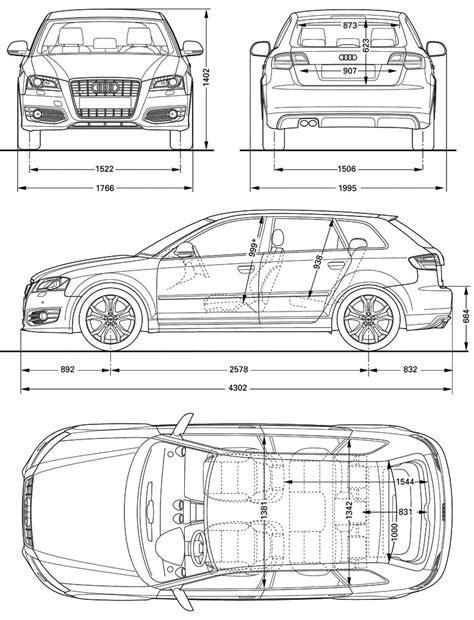 2009 Audi S3 (Typ 8P) Sportback Hatchback v2 blueprints