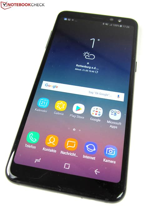 samsung galaxy a8 2018 smartphone review notebookcheck net reviews