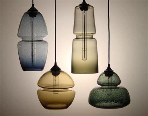 Handmade Glass Lighting - groove series socket pendant modern handmade glass