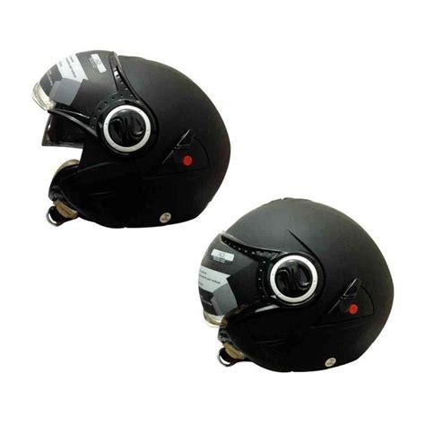 Helm Cakil Snail jual snail helm 2 kaca half retro 622 hitam dope