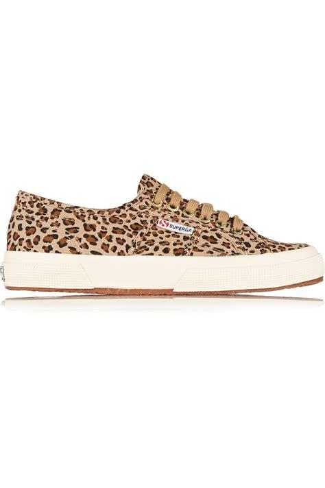 leopard print canvas sneakers superga leopard print canvas sneakers lyst
