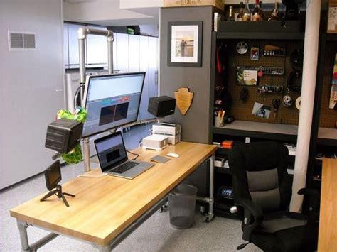 dual workstation computer desk dual pole mounted monitor desk deskweek keekl room