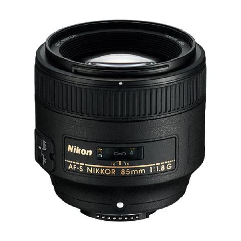 Lensa Nikon Af S 85mm F 1 8g jual nikon af s nikkor 85mm f 1 8g lensa kamera hitam harga kualitas terjamin