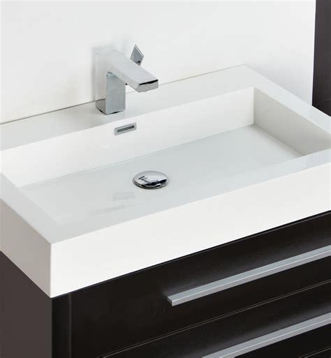 "Fresca Livello 30"" Black Modern Bathroom Vanity with"