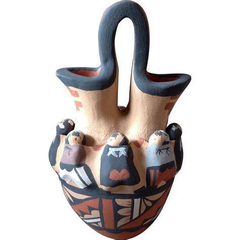 Indian Wedding Vase Story by Vintage Acoma American Wedding Babies Fertility